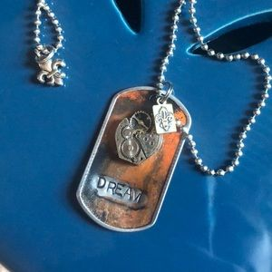 "Kate Mesta ""Dream"" Dog Tag Necklace"